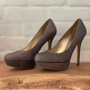 Multi glitter heels